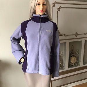 North Face Fleece Jacket Purple L